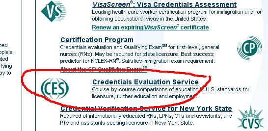 CGFNS - CES Application Steps for NCLEX (with images)