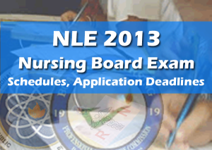 july december 2013 nle schedule